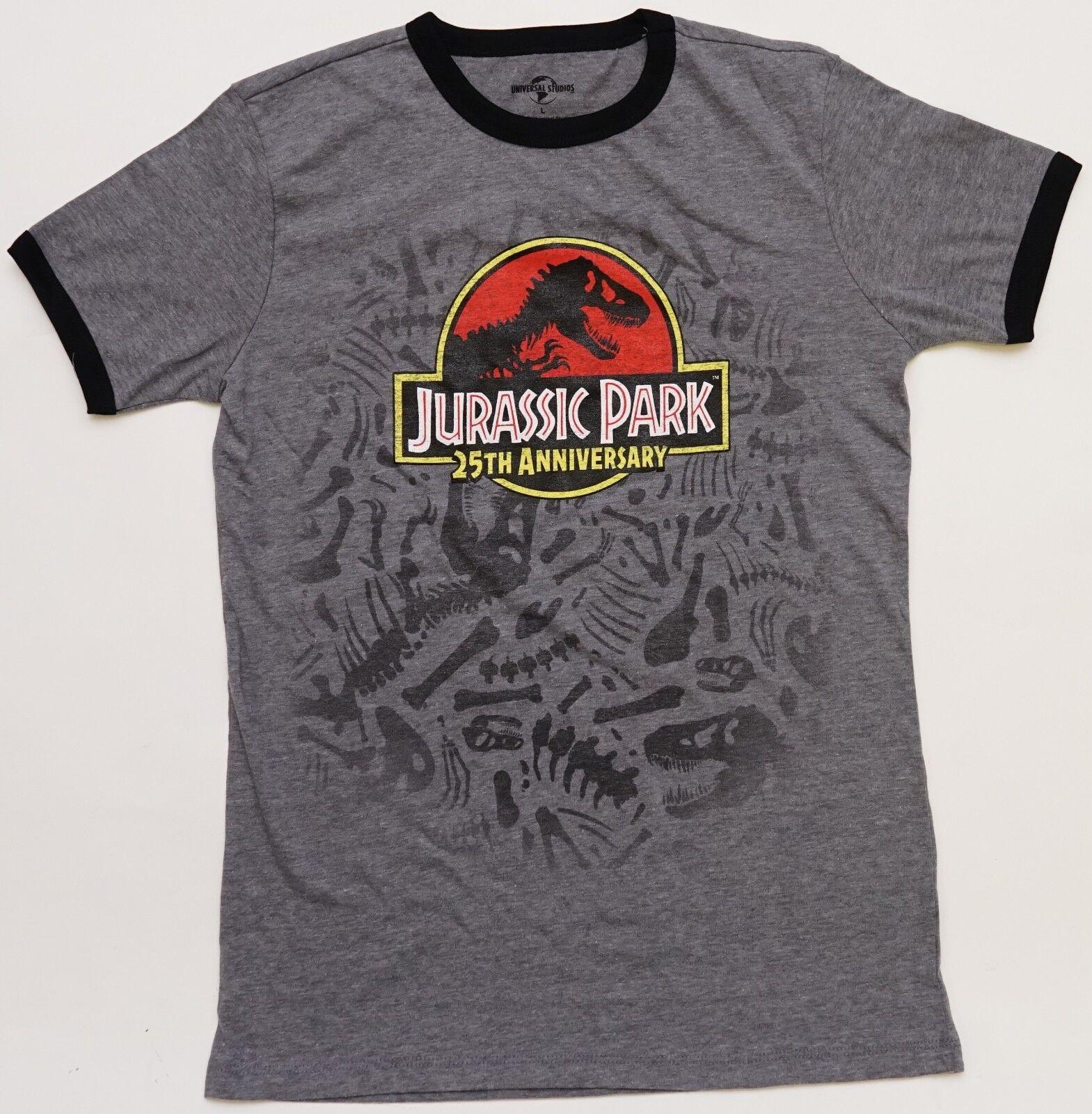 NEW Universal Studios Park Jurassic Park 25th Anniversary Ladies T-Shirt M-L