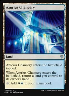 4 x AZORIUS CHANCERY NM mtg Commander 2016 Land Unc