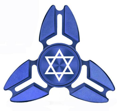 Fidget Spinner Tri-Spinner Aluminum Metal Jewish Star of David