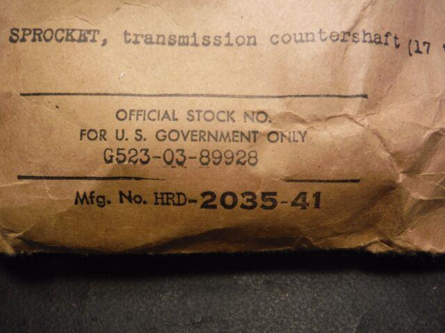 Original Harley Davidson 45 WLA Countershaft Sprocket 17 Tooth NOS 2035-41 4