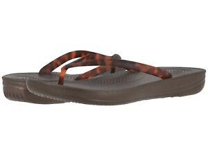 Scarpe-donna-FITFLOP-iqushion-Tartaruga-Infradito-Sandali-Cioccolato-T49-690