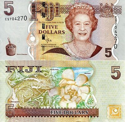 FIJI 2 Dollars Banknote World Paper Money UNC Currency Pick p109b 2007 Bill Note