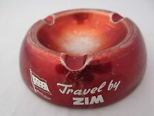Zim shipping memorabilia Travel by Zim metal Ashtray 1950s / 60's Israeli RARE