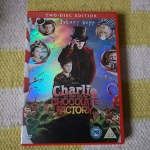 Charlie-And-The-Chocolate-Factory-2-disc-DVD-Region-2-Used-VGC