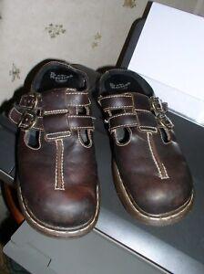 DR MARTENS MARTENS MARTENS Braun Leder Schuhes Clogs Slip On UK 8, US L 10 EU 42     634a72