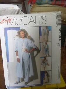 Oop-Mccalls-easy-4468-misses-duster-shirt-pants-capris-bias-skirt-sz-12-18-NEW