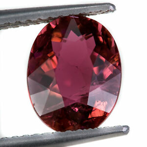 Tourmaline 2.44ct. A purplish red, loose gemstone, mined in Mozambique