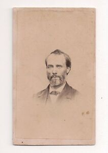 Vintage-CDV-Unknown-Man-Beard-Very-Distinguished-Looking-Civil-War-Era
