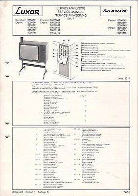 18066642/49 18066745 B1622 Anleitungen & Schaltbilder Ordentlich Luxor Service Manual Anleitung 18056641/44/47/48 .