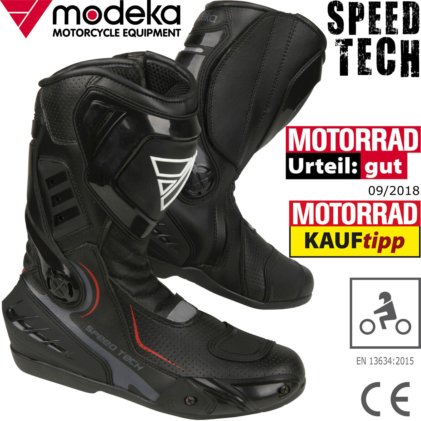 Modeka Muddy Track 2 Motorradstiefel 41