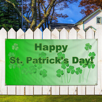 Patricks Day Business Style T Holidays and Occasions Happy St Patricks Day Outdoor Store Sign Green Set of 5 Decal Sticker Multiple Sizes Happy St
