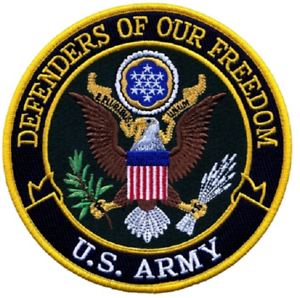 """U.S. Army Defenders Of Our Freedom Patch 5"""" New Style"""