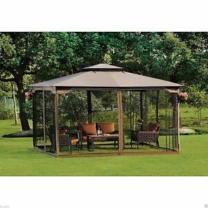 Outdoor Garden Gazebo Patio Furniture Metal Frame Canopy