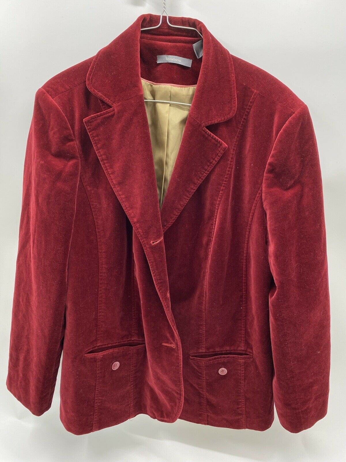 Liz Claiborne Red suede lined jacket/blazer Mediu… - image 1