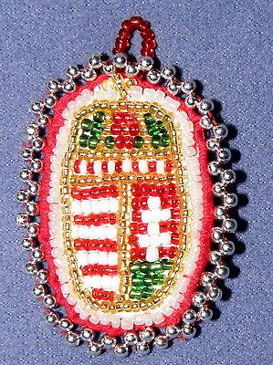 SchöN Wappen Ungarn Volkskunst Handarbeit Perlen Hungary Transylvania Coat Of Arms üBerlegene (In) QualitäT