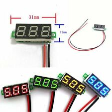 Mini DC 0-30V LED 3-Digital Diaplay Voltage Voltmeter Panel Meter with 2 Wires