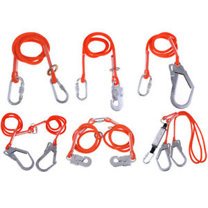 Safety Harness Fall Protection Tree Roof Climbing Gear Shock-absorbing Lanyard