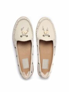 5def56c2c42 Details about UGG SUZETTE CHIVON LEATHER SLIP ON MOCCASINS SHOES - UK SIZE  5 - ANTIQUE WHITE