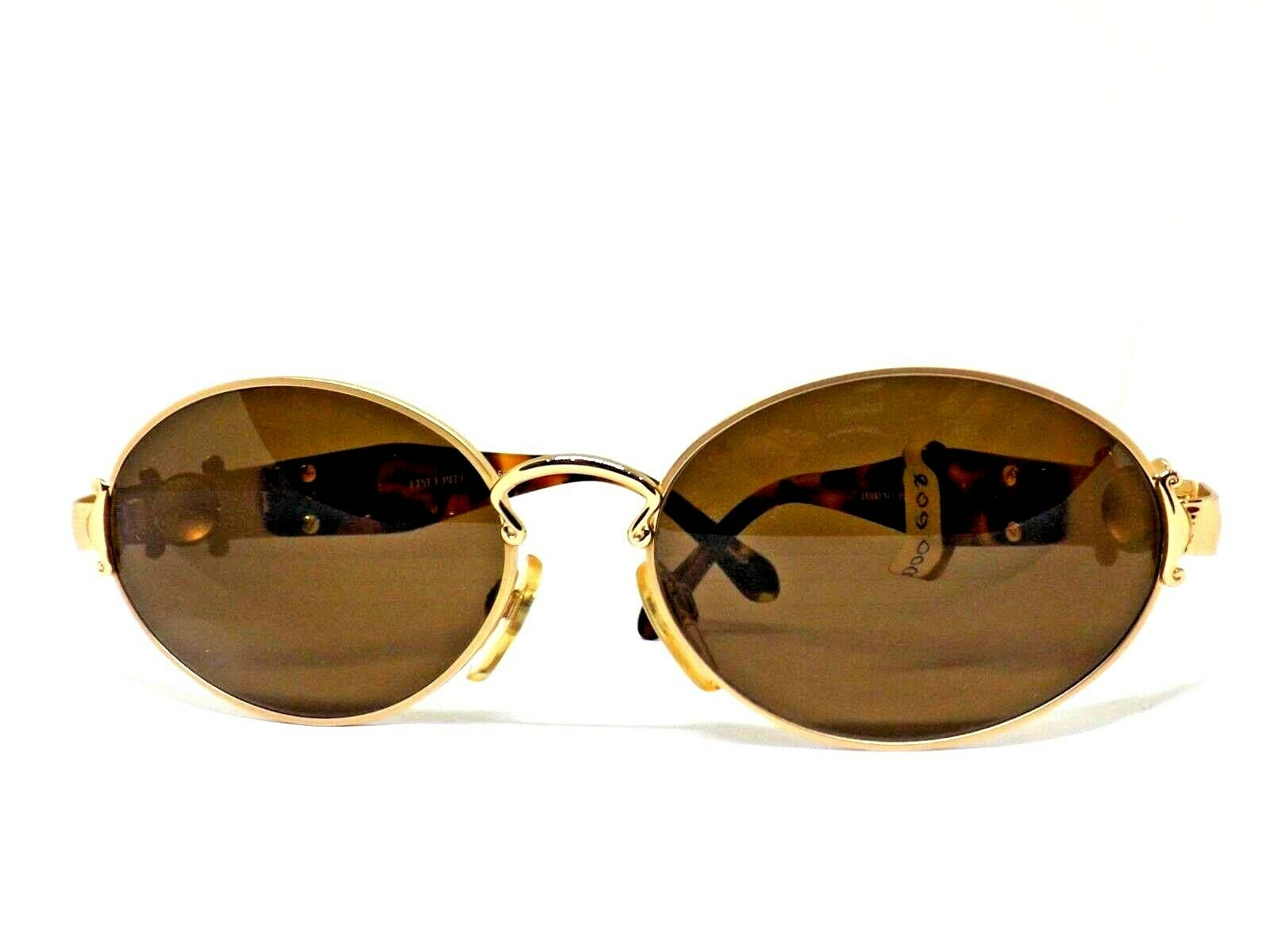 Sunglasses LINEA PITTI Florence Ages 80 Man Woman Oval Retro Made IN Italy