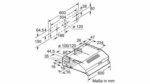 BOSCH dul62fa51 sottostruttura cappa in acciaio inox 60cm sottostruttura mangio sotto cappa ARMADIO