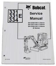 Bobcat 331 334 Compact Excavator Service Manual Shop Repair Book 4 Pn 6901139