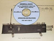 General Radio 1607 A Bridge Instruction Manual