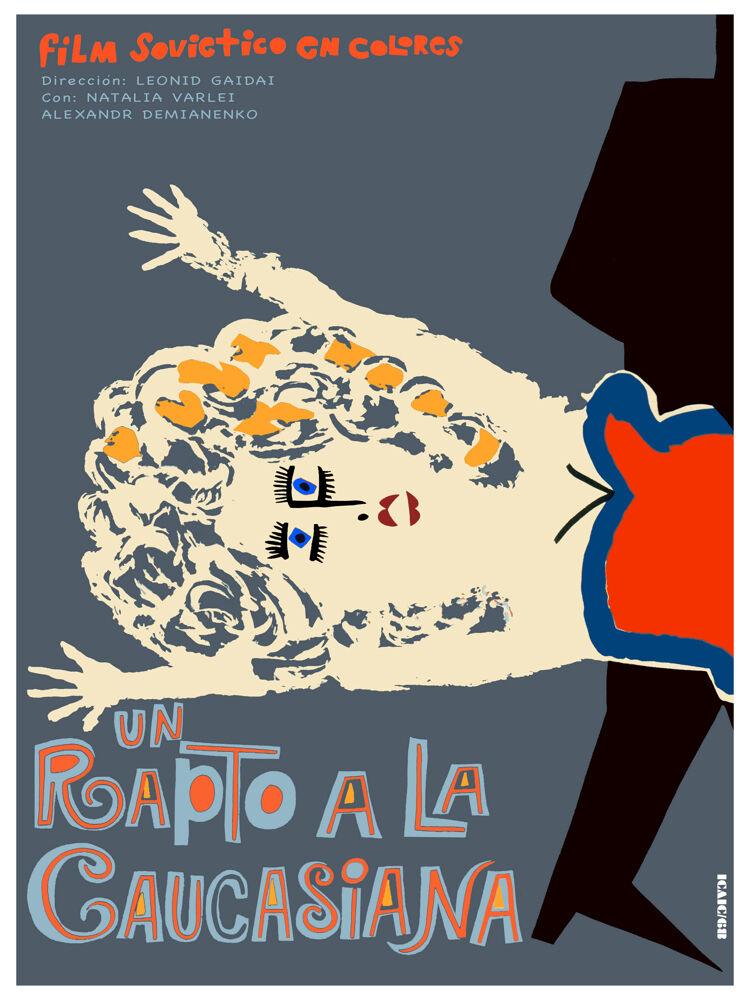Un Rapto a la caucasiana vintage Movie POSTER.Graphic Design.Art Decoration.3467