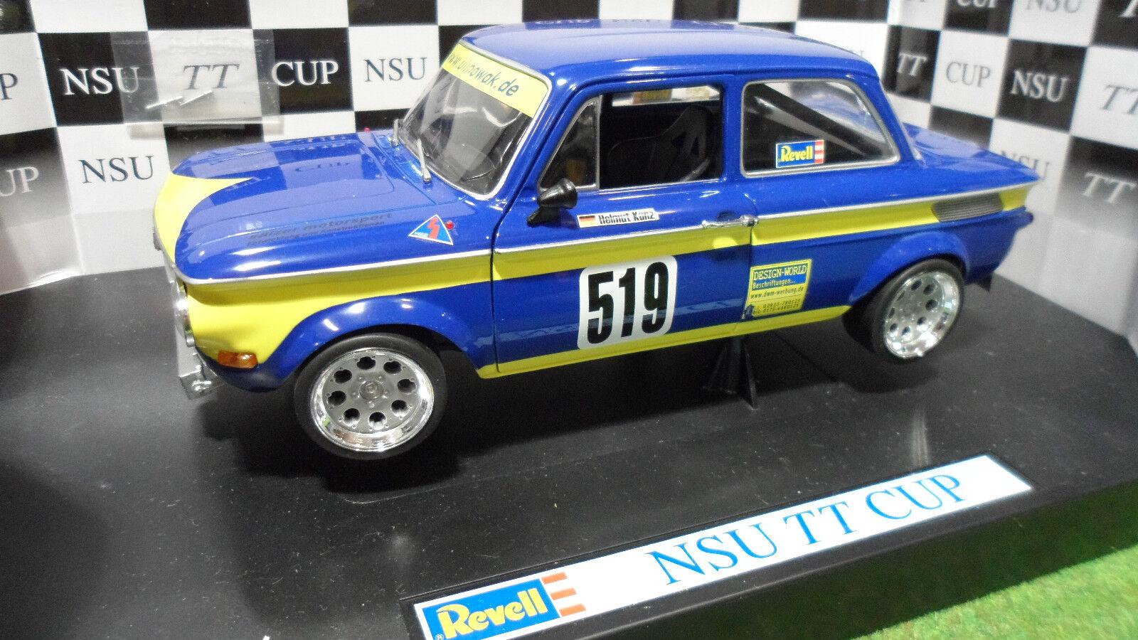 NSU TT CUP RACING  519 Bleu Helmut Kunz 1 18 REVELL 08458 voiture miniature