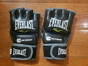Red Everlast Pro Style Grappling Gloves