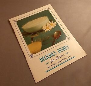 Delicious Dishes for Dieters by Knox Gelatine Vintage Booklet