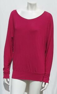 abf06f7849adb4  78 MICHAEL STARS USA  2278 Cranberry Rayon Batwing Tee Shirt Top ...