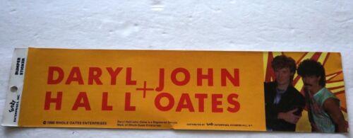 "Vintage Retro Funky 1985 DARYL HALL JOHN OATES Unused Bumper 11.75/"" X 3/"" Sticker"
