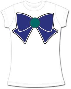 Sailor-Moon-Womens-Shirt-Size-Small-Sailor-Neptune-Bow-Kawaii-T-shirt-Anime-New