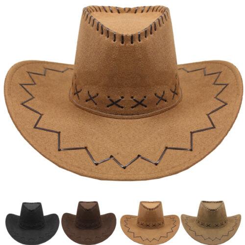 NEW Cowboy HAT WESTERN BROWN BLACK CAMEL BUCKET Cowgirl MEN WOMEN CHRISTMAS GIFT