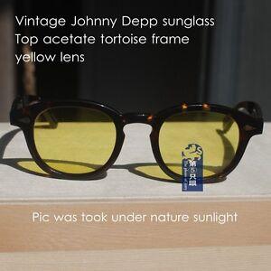 aef29aa998d Retro Johnny Depp sunglasses 1960 s mens acetate tortoise glasses ...