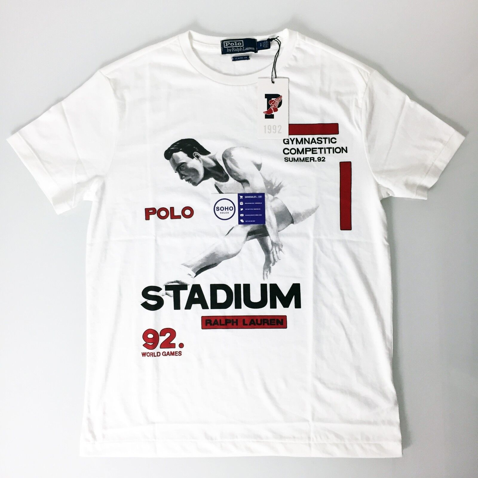 Polo Ralph Lauren 1992 Stadium Collection White Tee Size S-XXL Snow Beach
