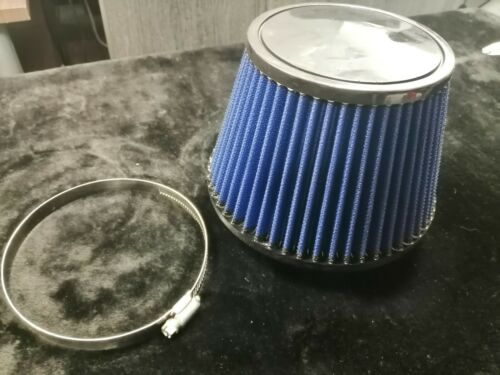 Apexi Style Universal Power Intake Air Filter With Dual Funnel  Adapter Blue
