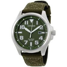Citizen 44 mm Sport Analog Display Japanese Quartz Green Men's Watch AW1410-16X