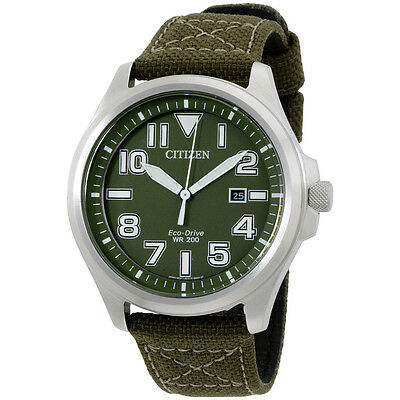 Citizen Military Green Dial Nylon Strap Men's Watch AW1410-16X