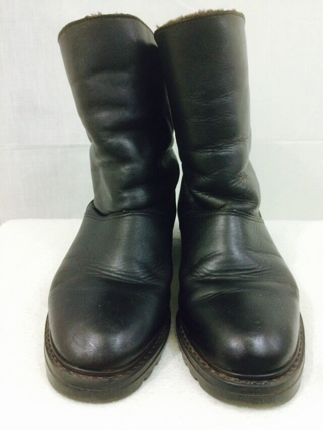 La Canadienne Womens Boots Leather Size 4 M Black Brown