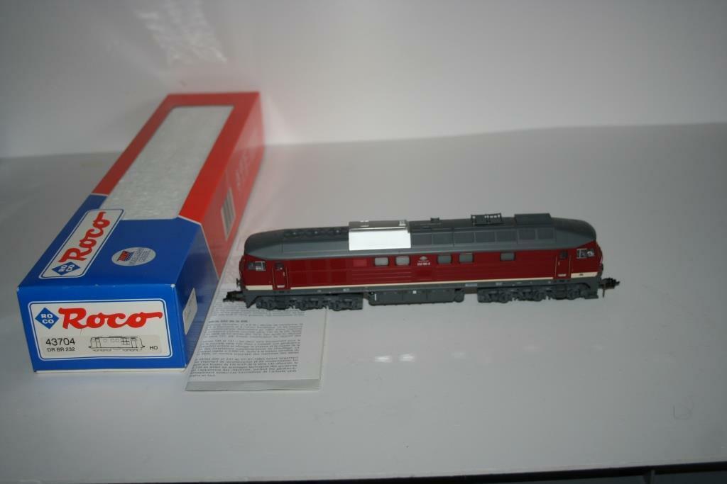 Roco Spur h0  43704 diesel locomotora br 232 100-8 de Dr, embalaje original
