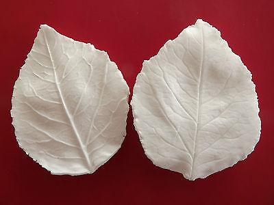 Double Rose Tea Leaf sugarcraft veiner food grade (large)