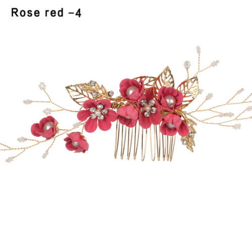 Bride Hair Jewelry Wedding Bridal Clips Hair Combs Flower Hair Pin Leaves Tiara