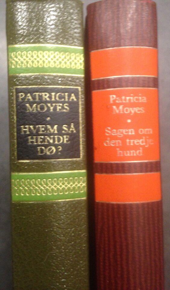 2 bøger, Patricia Moyes, genre: krimi og spænding