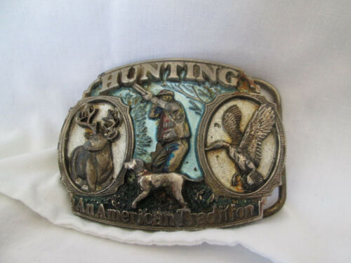 Vintage 1986 Hunting An American Tradition Buckle