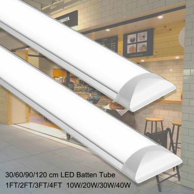 1FT/2FT/3FT/4FT LED Batten Linear Tube Light Modern Ceiling Surface Mounted  Lamp