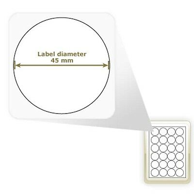 A4 GLOSS ROUND CIRCLE CIRCULAR LABEL PAPER STICKY STICKERS LASER PRINTER COPIER