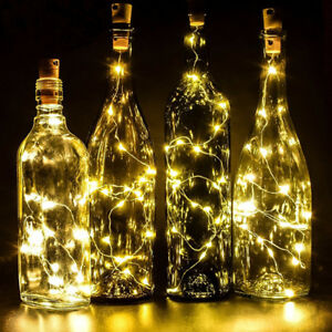 Image Is Loading 20led String Battery Operated Copper Wine Bottle Wire