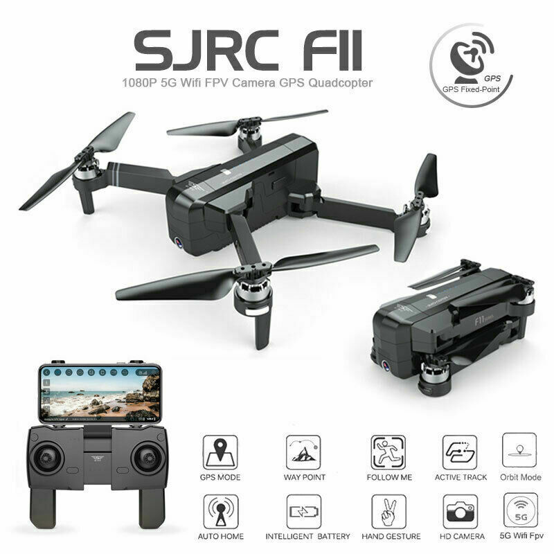 SJRC F11 Foldable Brushless GPS RC 2.4 Drone 5G WiFi FPV 1080P Camera Quadcopter