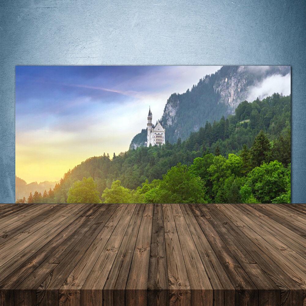 Crédence de cuisine en verre Panneau 140x70 Paysage Montagnes Forêts